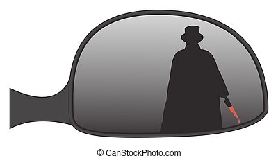 Jack The Ripper In Car Side Mirror - Jack the Ripper in a...