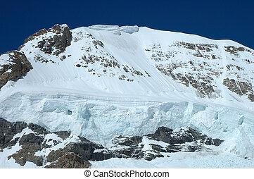 svizzera,  jungfraujoch, versante, neve,  monch