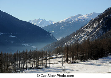 Paesaggio di Bionaz Valle d'Aosta - Paesaggio di Bionaz...