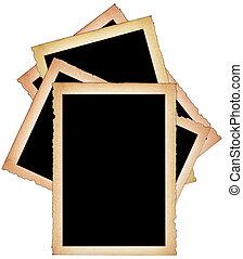 Pilha, de, papel, frames, ,