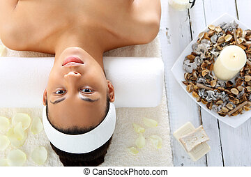 wellness and spa - Woman relaxing in the spa, relaxation and...