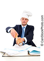 Spicing up paperwork - Conceptual image of spicing up...
