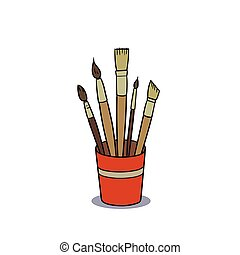 paint brushes - This is the illustration of paint brushes in...