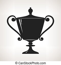 Silhouette cup of winner,trophy cup