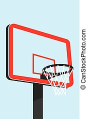 Basketball backboard - Illustration of a complex basketball...