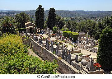 St. Paul de Vence cemetery, France - SAINT-PAUL-DE-VENCE,...