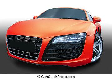 sports car - beautiful modern red sports car