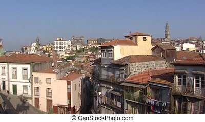 Pan skyline old quarter City of Porto, a World Heritage Site...