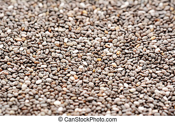 Chia seeds macro - Macro of a swathe of patterned grey chia...