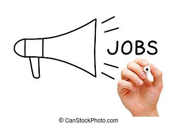 Jobs Megaphone Concept