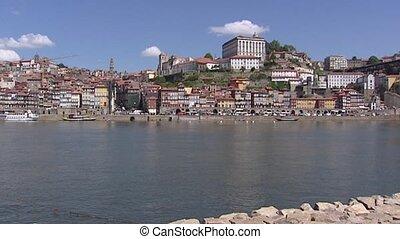 Skyline City of Porto - from Vila Nova de Gaia at Douro...