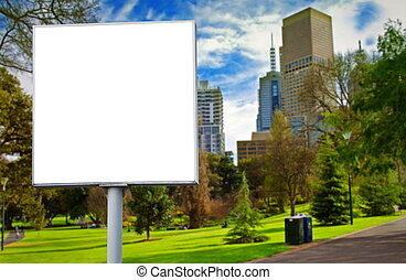 billboard - empty billboard in the park