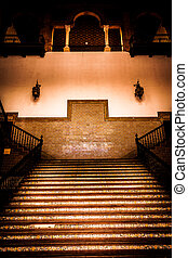 Spanish Renaissance Revival Staircase - Saville, Spain Old...