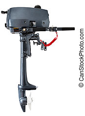Outboard motor - outboard motor of low power isolated on...
