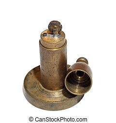 copper vintage lighter over white - copper vintage lighter...