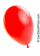 Balloons - A red balloon isolated against a white background