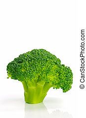 Brocoli - A head broccoli isolated against a white...