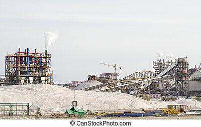 The Dead Sea Works is an Israeli potash plant in Sdom - The...