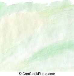 Light distressed green and yellow watercolor for background...