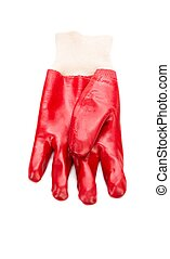 rubber red gloves - Heavy-duty and rubber red gloves...