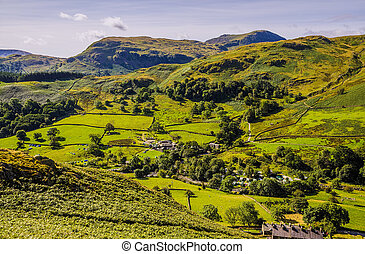 Glenridding seen from slopes of Sheffield Pike - Glenridding...
