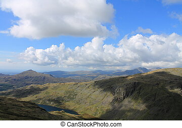 Seathwaite Tarn - View towards Seathwaite Tarn and the...