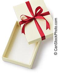 gift box - empty gift box isolated on white background