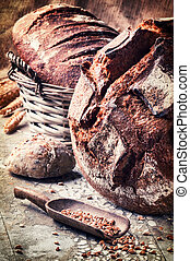 Selection of freshly baked bread