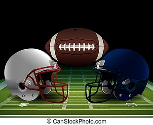 American Football Bowl Game Illustr - An illustration of an...