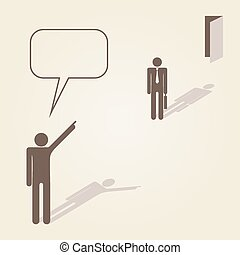 Template with Pointing hands and Get out Vector Illustration...