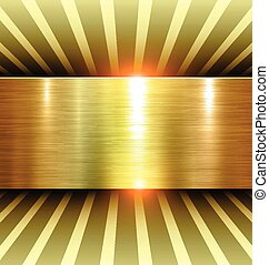 Shiny Gold Background 3d with metal texture, vector
