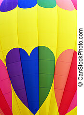 Heart Graphics on Hot Air Balloon