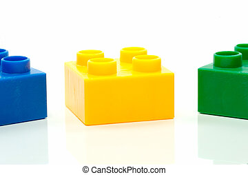 Building Blocks - Toy building blocks isolated against a...