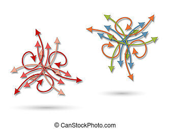 a chaotic arrows pattern - background or textile a chaotic...