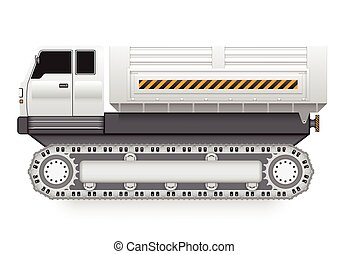 Tipper trucks - Illustration of tipper trucks with track...