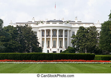 White House - The Back Side of the White House in Washington...
