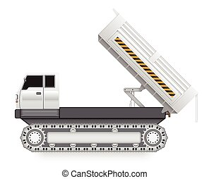 Dumptruck - Illustration of tipper trucks with track wheel...