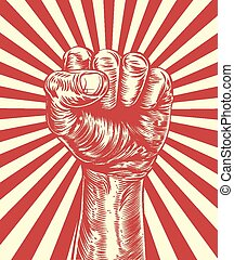 Revolution fist propaganda poster - An original illustration...