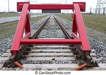 red railroad buffer end to destination