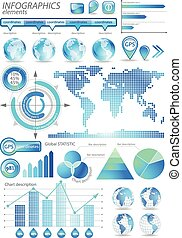 Global infographic vector illustration. - Set includes World...