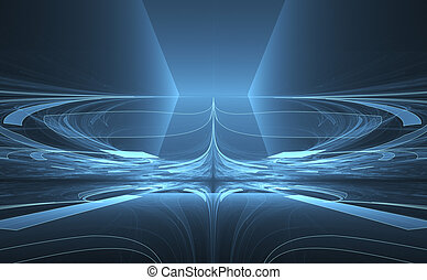 Fantasy abstract time warp background