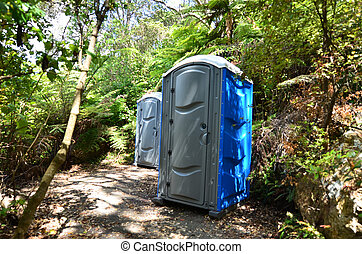 Portable Toilets in the woods.
