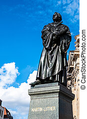 Martin Luther - monument of Martin Luther in Dresden, Saxony