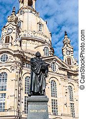 Dresden Frauenkirche - view of the Frauenkirche in Dresden...