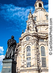 Dresden Frauenkirche - view of the Frauenkirche in Dresden...