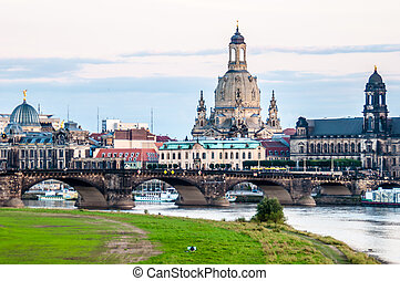 Dresden - view of the old town of Dresden, Saxony