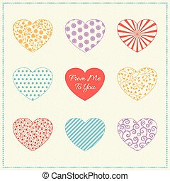 Background with multicolored hearts