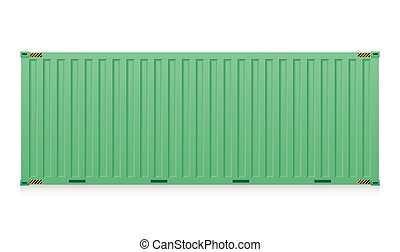 Cargo container - Illustration of cargo container isolated...