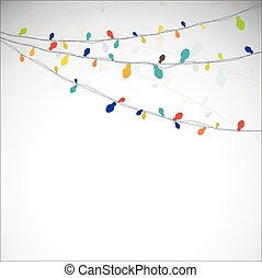 Absract light garland.  Vector  illustration  for you