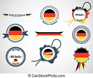 Made in Germany - seals, badges.